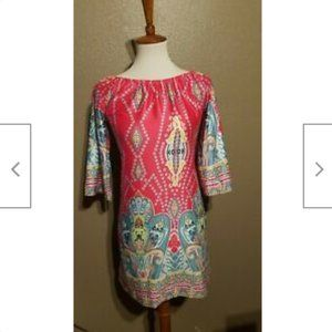 70's Dress not Branded Size M Really Colorful